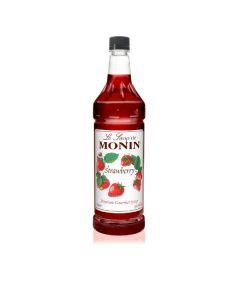 Monin Strawberry Syrup - 1L Bottle