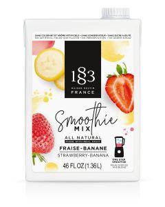 routin 1883 strawberry banana smoothie