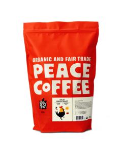 Peace Coffee Decaf French Roast - 5lb Bag Whole Bean