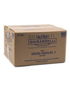 Ghirardelli Sweet Ground Chocolate and Cocoa - 30lb Bag