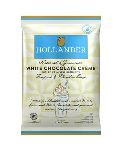 hollander white chocolate creme frappe package front