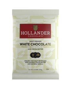 Hollander Sweet Ground White Chocolate - 2.5lb Bag