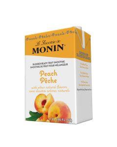 Monin Peach Smoothie - 6/46oz Cartons