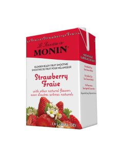 Monin Strawberry Smoothie - 6/46oz Cartons