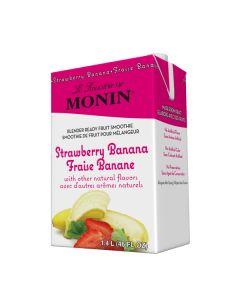 Monin Strawberry Banana Smoothie - 6/46oz Cartons