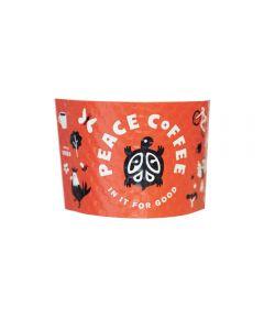 Peace Coffee Sleeve - 2400 Count
